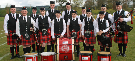 Coupar Angus Grade 4 Pipe Band